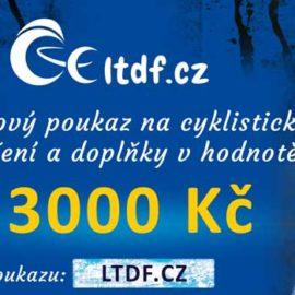 Dárkový poukaz na cyklistické oblečení v hodnotě 3000 Kč (náhled)