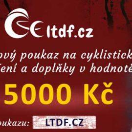 Dárkový poukaz na cyklistické oblečení v hodnotě 5000 Kč (náhled)