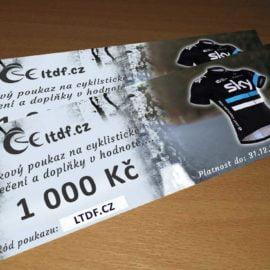 Dárkový poukaz na cyklistické oblečení v hodnotě 1000 Kč