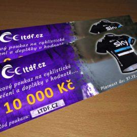 Dárkový poukaz na cyklistické oblečení v hodnotě 10000 Kč
