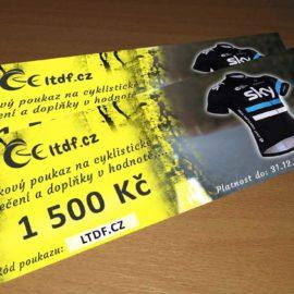 Dárkový poukaz na cyklistické oblečení v hodnotě 1500 Kč