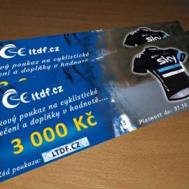 Dárkový poukaz na cyklistické oblečení v hodnotě 3000 Kč