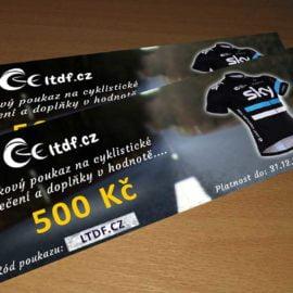 Dárkový poukaz na cyklistické oblečení v hodnotě 500 Kč