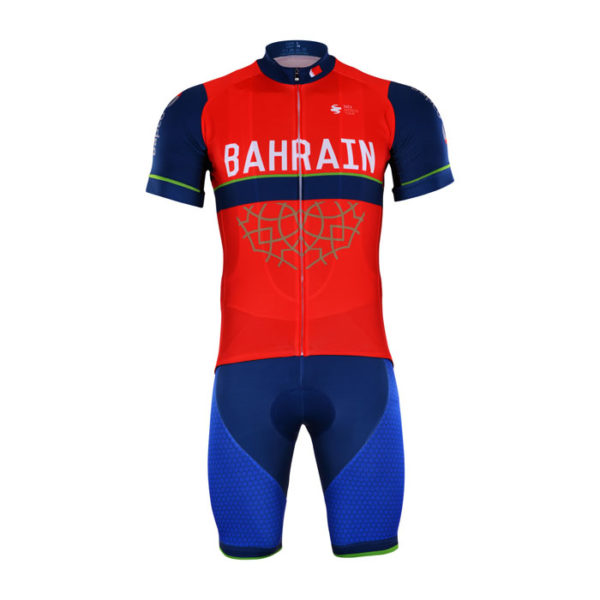 Cyklistický dres a kalhoty Bahrain-Merida 2017