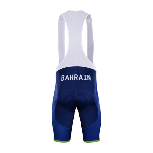 Cyklokalhoty Bahrain-Merida 2018 zadní strana