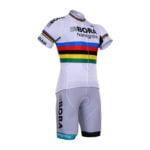Cyklistický dres a kalhoty Bora-Hansgrohe 2017 UCI bílý