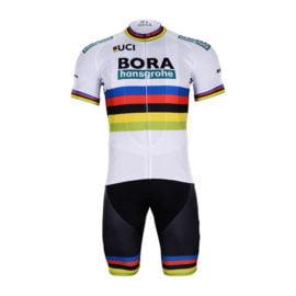 Cyklistický dres a kalhoty Bora-Hansgrohe 2018 UCI černý