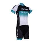 Cyklistický dres a kalhoty Bora-Hansgrohe 2017 bílý