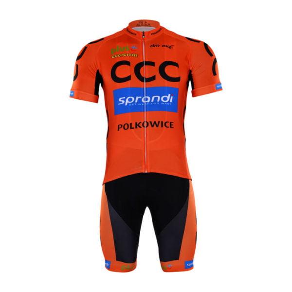 Cyklistický dres a kalhoty CCC Sprandi Polkowice 2017