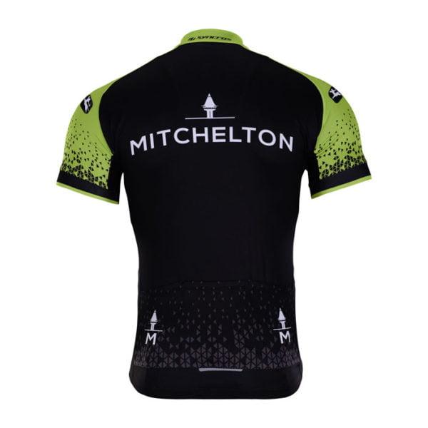 Cyklodres Mitchelton-Scott 2018 zadní strana