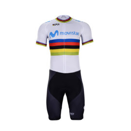 Cyklistický dres a kalhoty Movistar 2019 UCI