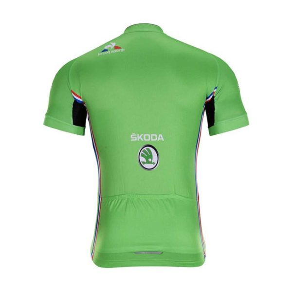 Cyklodres Tour de France 2019 zelený zadní strana