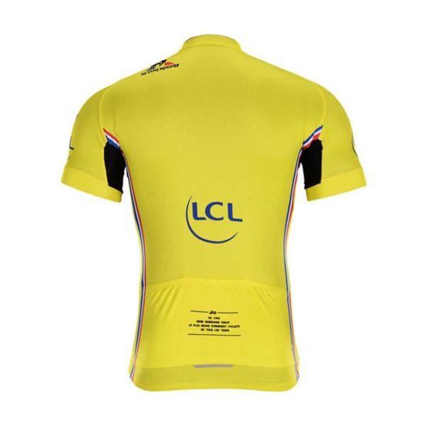 Cyklodres Tour de France 2019 žlutý zadní strana