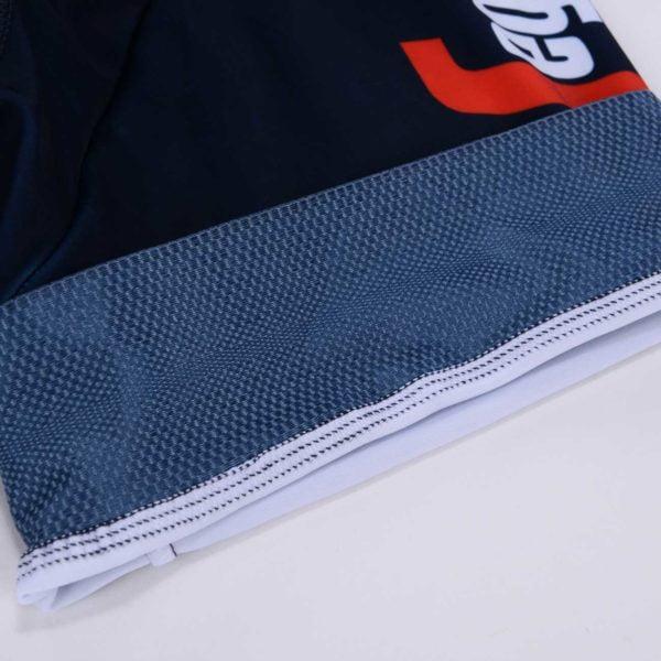 Cyklistické kalhoty Trek-Segafredo 2020 lem stehna ohrnutý