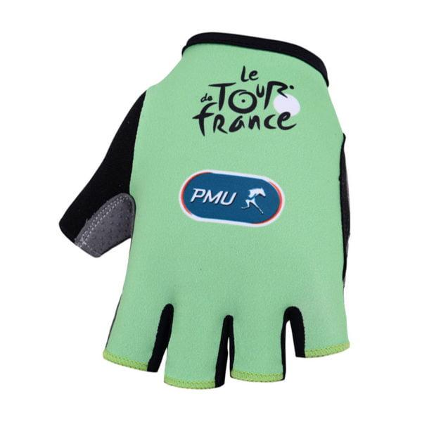Cyklistické rukavice Tour de France zelené 2019