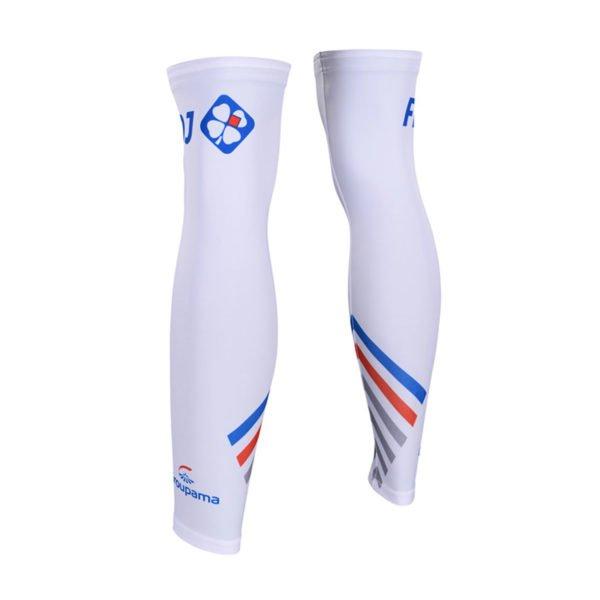 Cyklistické návleky na nohy FDJ 2019  zadní strana