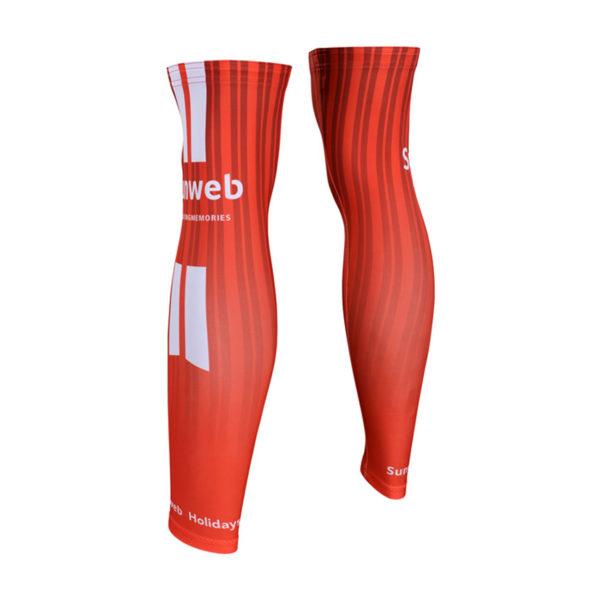 Cyklistické návleky na nohy Sunweb 2019 zadní strana
