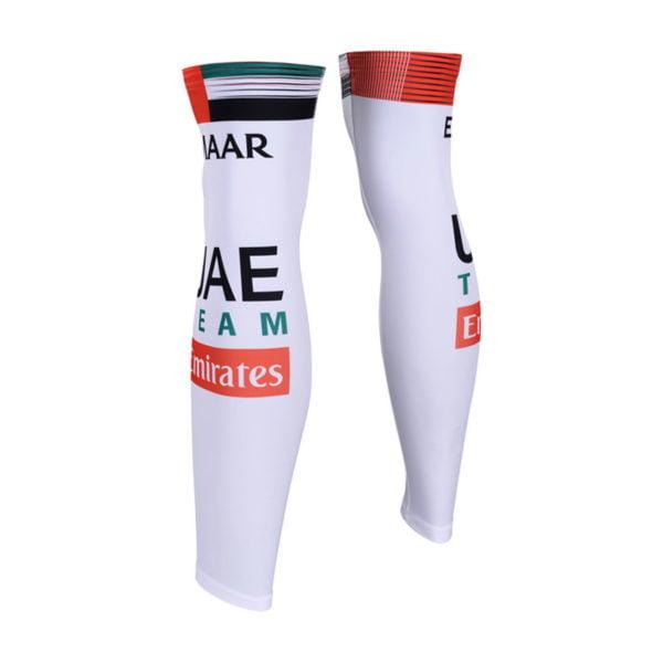 Cyklistické návleky na nohy UAE Team Emirates 2019 zadní strana