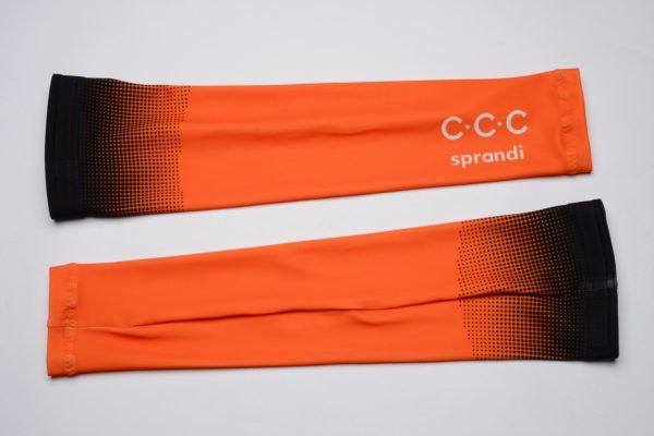 Cyklistické návleky na ruce CCC 2020 reálná fotografie