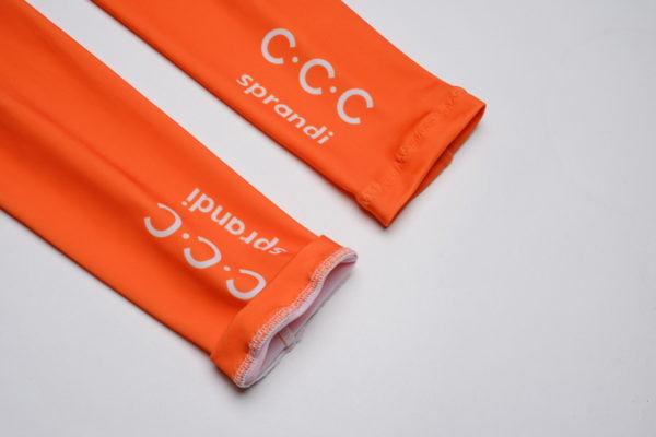 Cyklistické návleky na ruce CCC 2020 zakončení u zápěstí