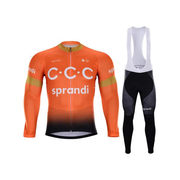 Zimní dres na kolo a zimní cyklistické kalhoty CCC 2020