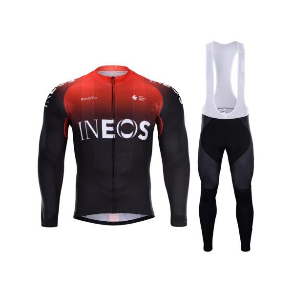 Zimní dres na kolo a zimní cyklistické kalhoty Ineos 2020