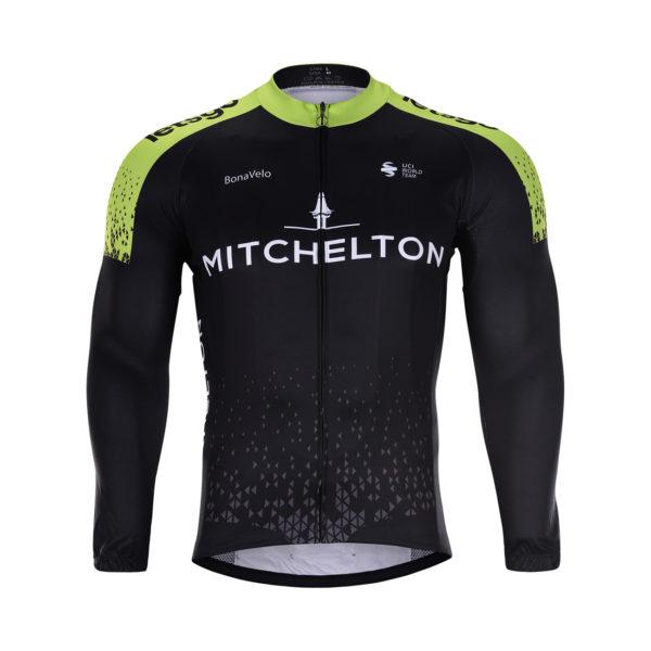 Cyklistická bunda zimní Mitchelton-Scott 2020