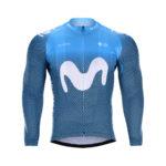 Cyklistická bunda zimní Movistar 2020