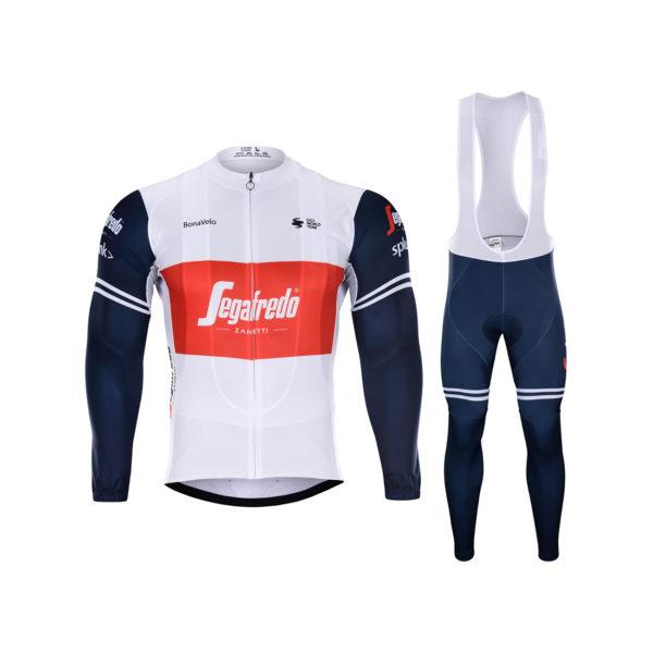 Zimní dres na kolo a zimní cyklistické kalhoty Trek-Segafredo 2020