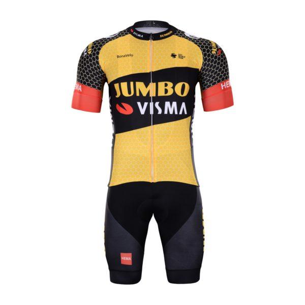 Cyklistický dres a kalhoty Lotto-Jumbo 2021 Visma